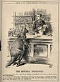 A pharmacist making up a prescription for a kangaroo; repres Wellcome V0011456.jpg
