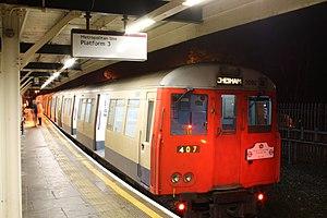 Chesham tube station - Image: A stock chalfont shuttle last day
