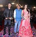 Aayush Sharma, Ameet Satam, Warina Hussain at Ameet Satam's Adarsh Navratri Utsav (02).jpg