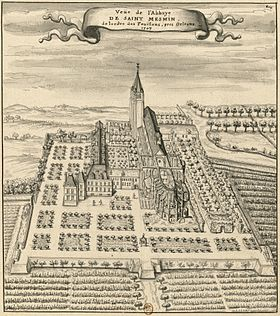 L'abbaye en 1707[1]
