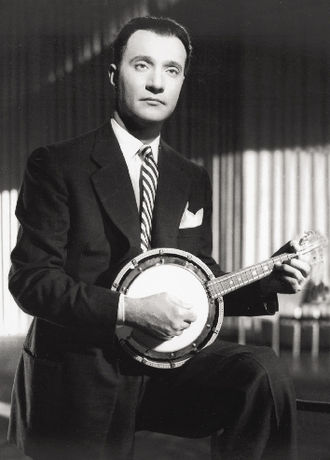 Mohammed Abdel Wahab - Muhammad 'Abd al-Wahhab with a cümbüş mandolin