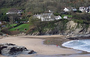 Ceredigion Coast Path - The beach at Aberporth