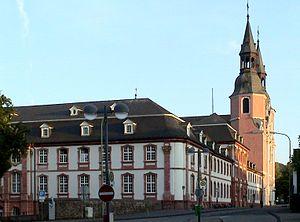 Prüm Abbey - Image: Abtei Pruem mit St. Salvator Basilika