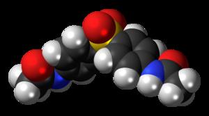 Acedapsone - Image: Acedapsone 3D spacefill