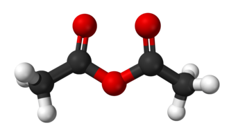 Acetic anhydride - Image: Acetic anhydride from xtal 2003 3D balls