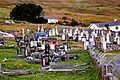 Achill Island - Gravesites, Graveyard Entrance & Two Homes near Deserted Village (geograph 3759460).jpg