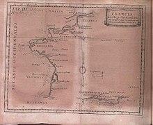 Una mappa della Francia tratta dagli Acta Eruditorum del 1703