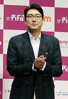 Description de l'image Actor Cho Jin-woong arrives at the red carpet event of the Pifan in Bucheon on July 17, 2014.jpg.
