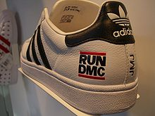 Adidas sneakers with the Run-DMC logo