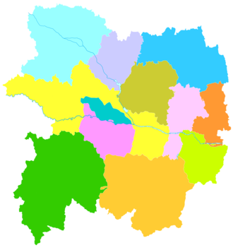 Baoji - Image: Administrative Division Baoji
