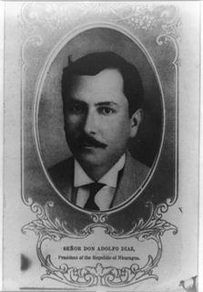 Adolfo Díaz President of Nicaragua