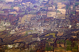 Ionia, Michigan - Aerial photo of Ionia taken November 2007
