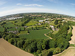 Aerial view of Le Mont Ubé to St Saviour, Jersey.jpg
