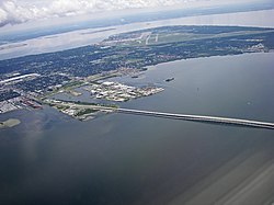 Southernmost portion including MacDill Air Force Base and the Gandy Bridge