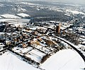 Aerial view of the Benfleet water tower in the snow - geograph.org.uk - 1563682.jpg