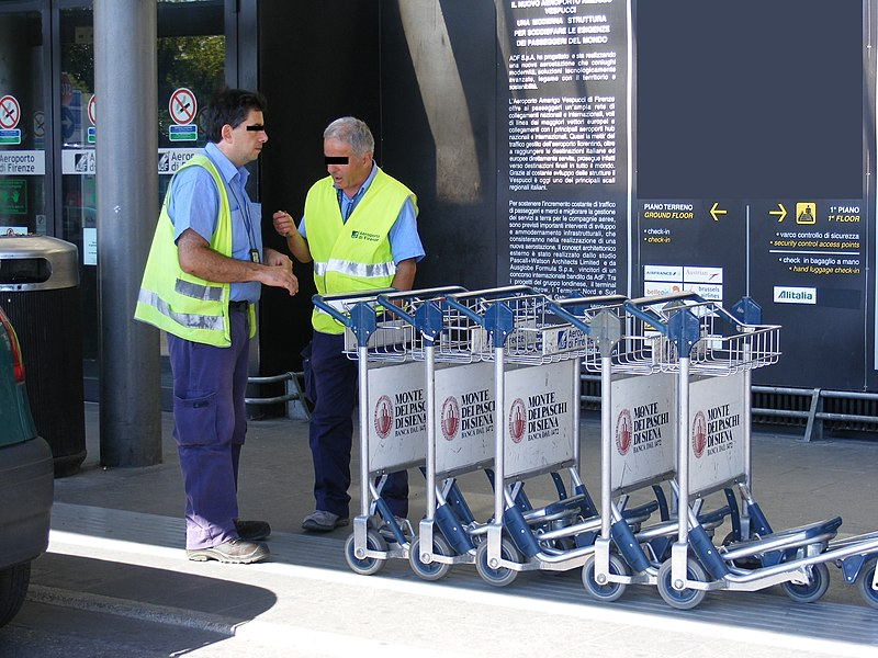 File:Aeroporto di Firenze - Baggage carts and collectors.jpg