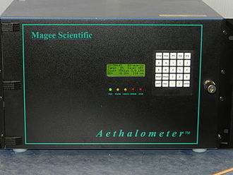 Aethalometer - The exterior of an aethalometer