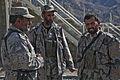 Afghan Border Police officers, serving with 2nd Coy, 4th Afghan Border Police Kandak, talk amongst themselves in the La'l Por district, Forward Operating Base Shinwar, Nangarhar province, Afghanistan, Feb 120216-A-LP603-017.jpg
