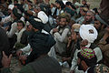 Afghan villagers attend a shura, or meeting, held by an Afghan Local Police (ALP) commander during a construction project to build an ALP checkpoint in Helmand province, Afghanistan, March 30, 2013 130330-M-BO337-315.jpg