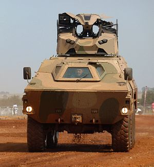 Ratel IFV - A tactical remote turret mounted on a Ratel