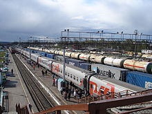 Agryz town, Republic of Tatarstan, Russia. Train station. Main view at the area.jpg