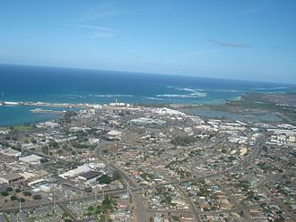 Kahului, Hawaii - Aerial view of Kahului from the southwest