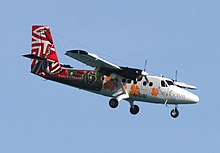 Air Moorea DHC-6 Twin Otter ( F-OIQI) on final approach into Papeete.jpg