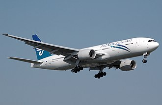 History of Air New Zealand - Air New Zealand Boeing 777-200ER lands at London Heathrow Airport