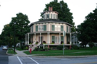 Octagon house - Image: Akron octagon house