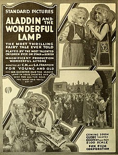 <i>Aladdin and the Wonderful Lamp</i> (1917 film) 1917 film by Chester M. Franklin