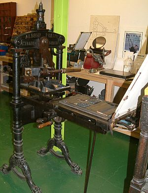 Albion press - Albion Press of 1898 at the Bodleian Library, Oxford.