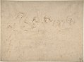 Alcibiades Interrupting the Symposium; verso- Sketches of the Baptism of Christ and of a Man MET DP802376.jpg