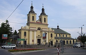 Aleksandrów Łódzki - Saints Raphael and Michael Archangel church in Aleksandrów Łódzki - oldest church in the city