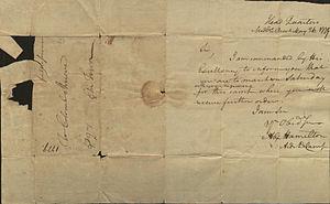 Alexander Hamilton and slavery - Letter from Alexander Hamilton, 1779
