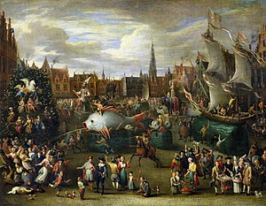 Festival - A Festival at Antwerp, 17th century