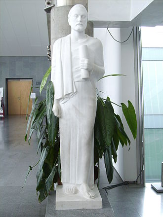 Demetrius of Phalerum - Statue of Demetrius at the entrance of the Bibliotheca Alexandrina