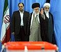 Ali Khamenei before voting in the 2013 Presidential election.jpg