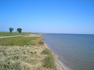 Tuzly Lagoons National Nature Park - Coast of Alibey Lagoon, part of the Tuzly group.