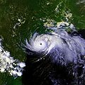 Satellite image of Hurricane Alicia