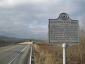 Allenwood River Bridge - Image: Allenwood River Bridge sign