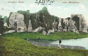 Allington Castle - The ruins of the castle in 1905