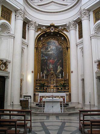 San Carlo alle Quattro Fontane - Image: Altarpiece San Carlo 4Fontane 1
