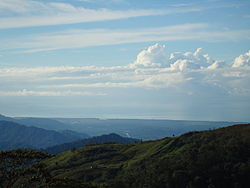 Quepos coastline as seen from Concepcion, in the Tarrazu highlands, Costa Rica
