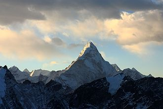 Adrian Ballinger - Ama Dablam of the Himalaya's tops out at 6,812 m (22,349 ft) and has been summited by Adrian