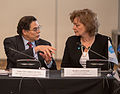 Amb. Eduardo Galvez (Chile) and Maria Leissner, Secretary General of the Community of Democracies.jpg