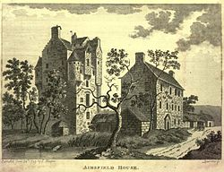 Amisfield Tower, Tinwald, Dumfriesshire c.1789. PD-old-100.jpg