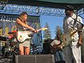 Ana Popovic and Buddy Guy Russian River Blues 2011.JPG
