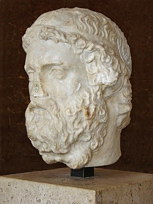 Anacreon - A bust of Anacreon in the Louvre