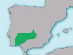 Mapa de distribución de A. hispanica[1]