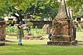 Ananya Mondal Taking Notes - Dutch Cemetery Documentation - Chinsurah - Hooghly 2014-05-14 8377.JPG